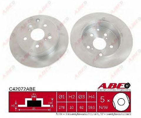Тормозной диск ABE C42072ABE
