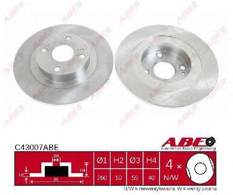 Тормозной диск ABE C43007ABE