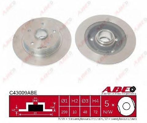 Тормозной диск ABE C43009ABE