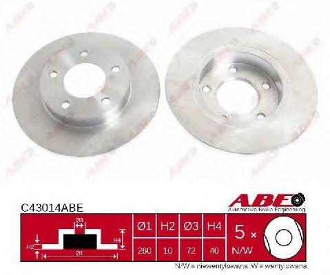 Тормозной диск ABE C43014ABE