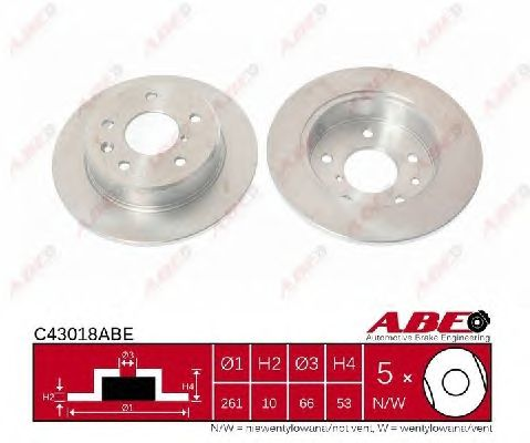Тормозной диск ABE C43018ABE