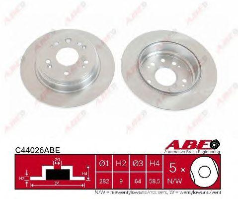 Тормозной диск ABE C44026ABE
