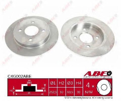 Тормозной диск ABE C4G002ABE