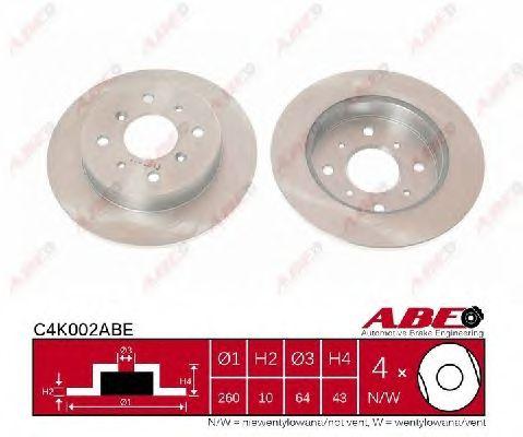Тормозной диск ABE C4K002ABE