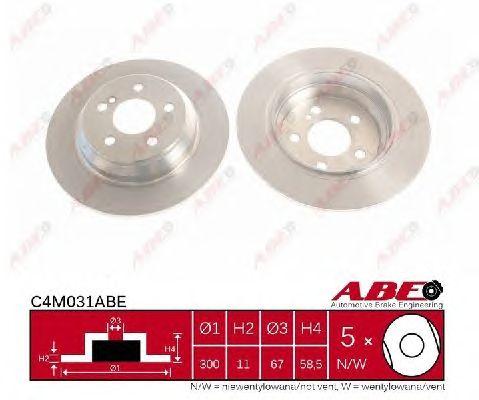 Тормозной диск ABE C4M031ABE