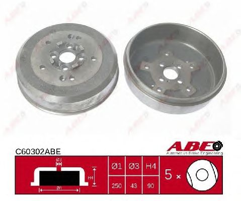 Тормозной барабан ABE C60302ABE