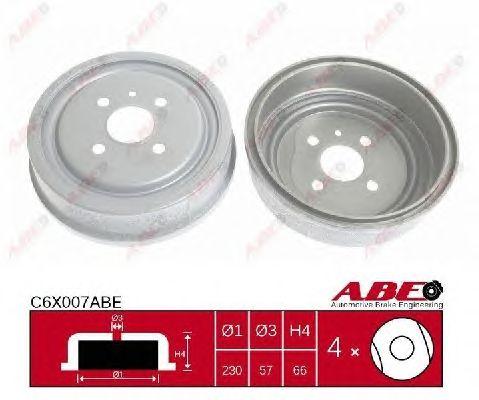 Тормозной барабан ABE C6X007ABE