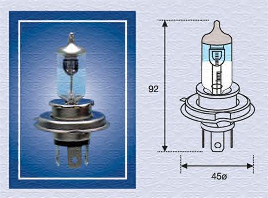 Лампа накаливания MAGNETI MARELLI 002585100000 (фара дальнего света, основная фара)