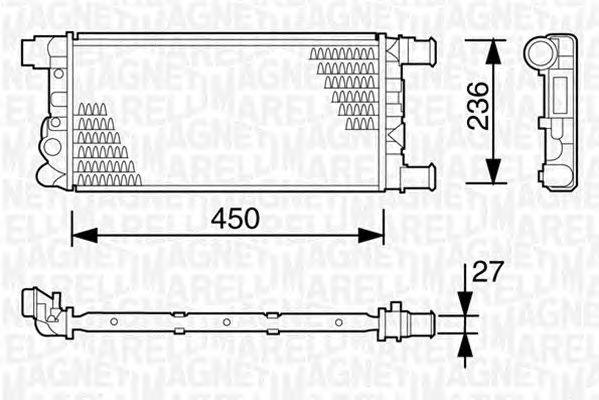 Радиатор, охлаждение двигателя MAGNETI MARELLI 350213103003