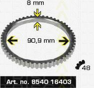 Сигнальный диск АБС TRISCAN 8540 16403