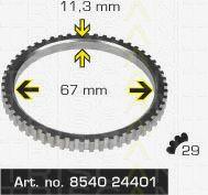 Сигнальный диск АБС TRISCAN 8540 24401