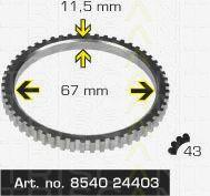 Сигнальный диск АБС TRISCAN 8540 24403