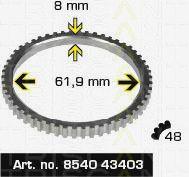 Сигнальный диск АБС TRISCAN 8540 43403