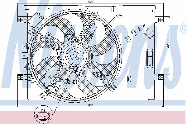 Вентилятор охлаждения NISSENS 85564