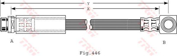 Тормозной шланг TRW PHD475
