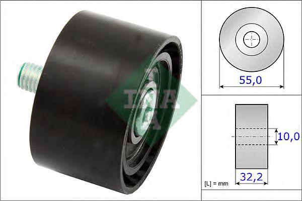 Направляющий / паразитный ролик  поликлинового ремня INA 532 0659 10