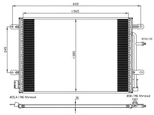 Радиатор кондиционера NRF 35560