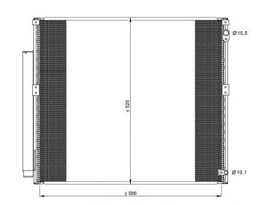 Радиатор кондиционера NRF 35858