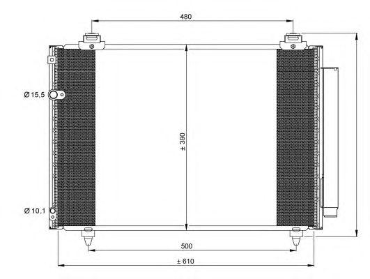 Радиатор кондиционера NRF 35860