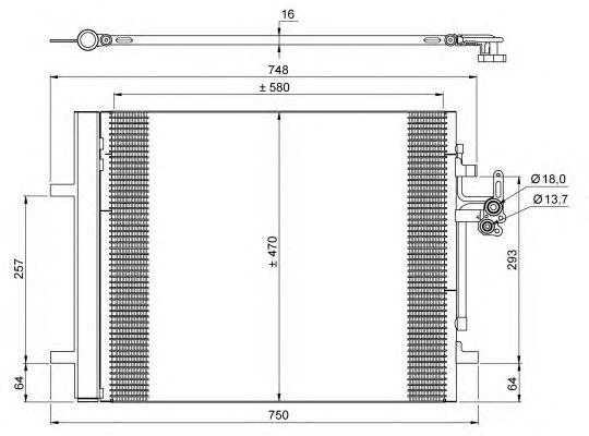 Радиатор кондиционера NRF 35884