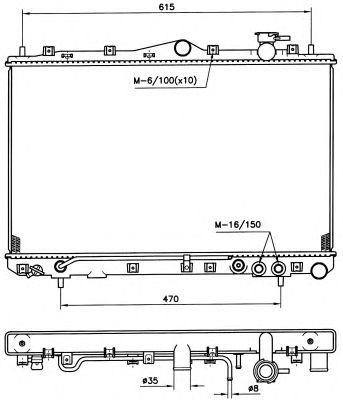 Радиатор, охлаждение двигателя NRF 53258