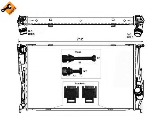 Радиатор, охлаждение двигателя NRF 53472