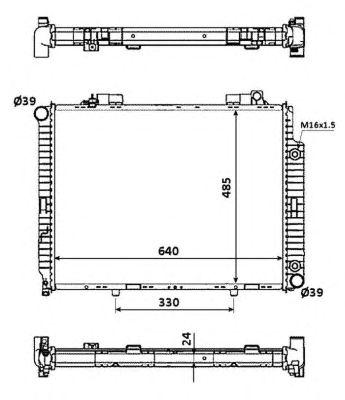 Радиатор, охлаждение двигателя NRF 53945