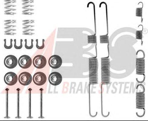 Монтажный комплект тормозных колодок A.B.S. 0643Q