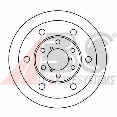 Тормозной диск A.B.S. 16390