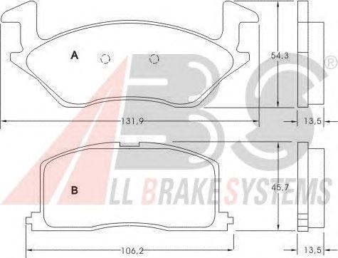 Тормозные колодки A.B.S. 36711