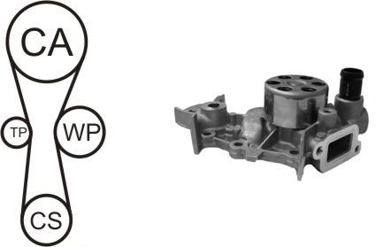 Помпа + комплект ГРМ AIRTEX WPK-181801