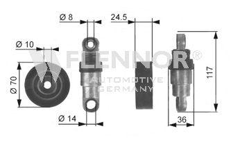 Натяжитель поликлинового ремня FLENNOR FA27995