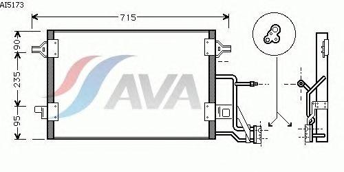 Радиатор кондиционера AVA QUALITY COOLING AI5173