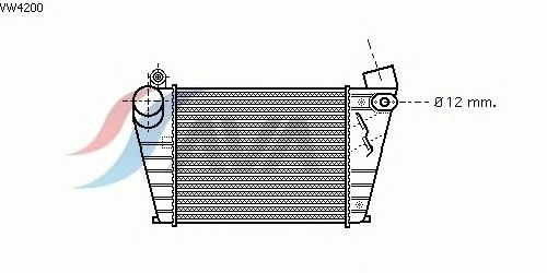 Интеркулер AVA QUALITY COOLING VW4200