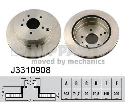 Тормозной диск NIPPARTS J3310908