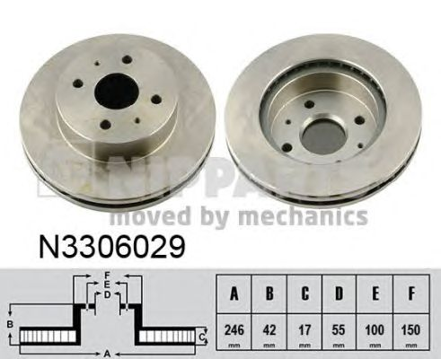 Тормозной диск NIPPARTS N3306029