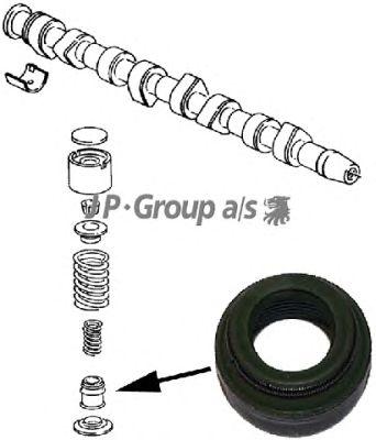 Сальник клапана, маслосъемный  колпачок JP GROUP 1111352700