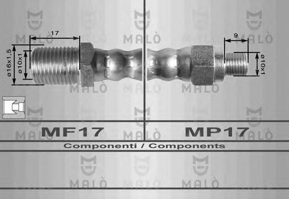 Тормозной шланг MALO 8451