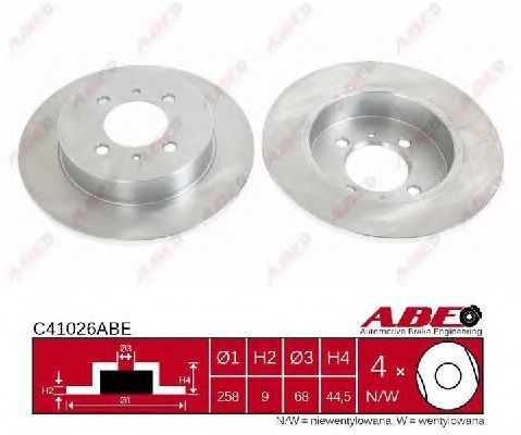 Тормозной диск ABE C41026ABE