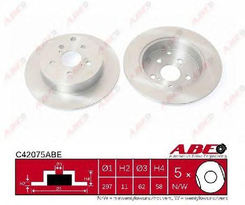 Тормозной диск ABE C42075ABE