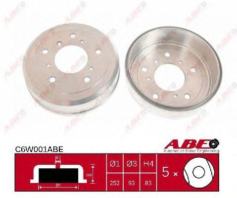 Тормозной барабан ABE C6W001ABE