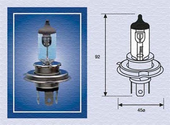 Лампа накаливания MAGNETI MARELLI 002176100000 (фара рабочего освещения, фара дальнего света, основная фара, противотуманная фара, прожектор-искатель)