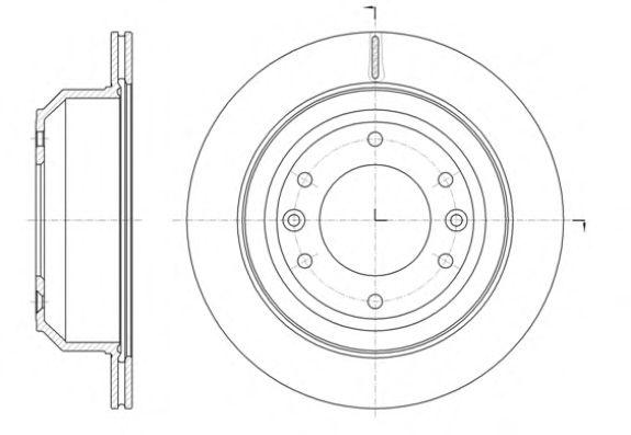 Тормозной диск REMSA 61397.10