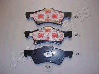 Тормозные колодки JAPANPARTS PA-002AF