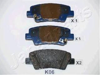 Тормозные колодки JAPANPARTS PP-K06AF