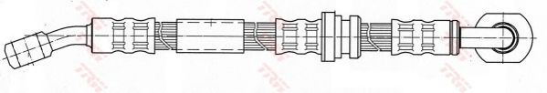 Тормозной шланг TRW PHD431