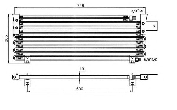 Радиатор кондиционера NRF 35001