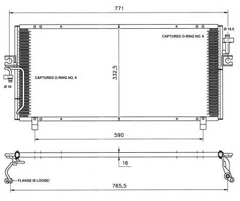 Радиатор кондиционера NRF 35195