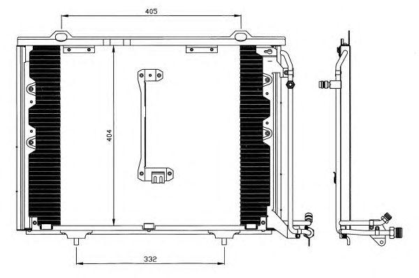Радиатор кондиционера NRF 35214