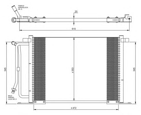 Радиатор кондиционера NRF 35250